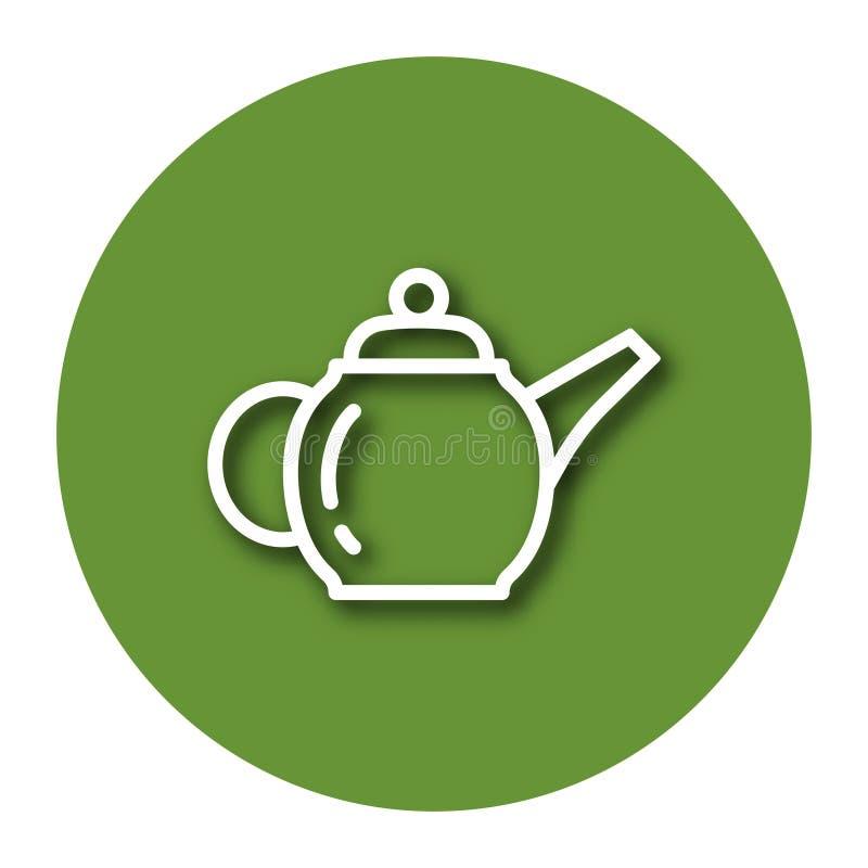 Ligne icône de théière de brassage illustration de vecteur