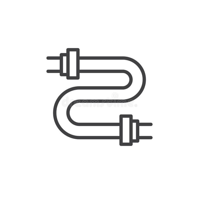Ligne icône de tuyaux illustration de vecteur