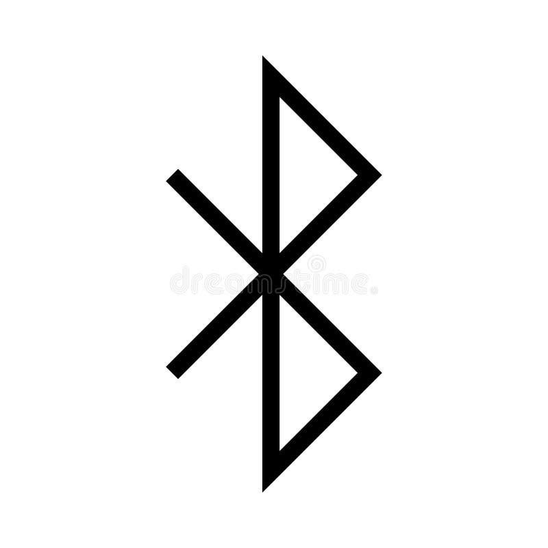 Ligne icône de vecteur de Bluetooth illustration stock