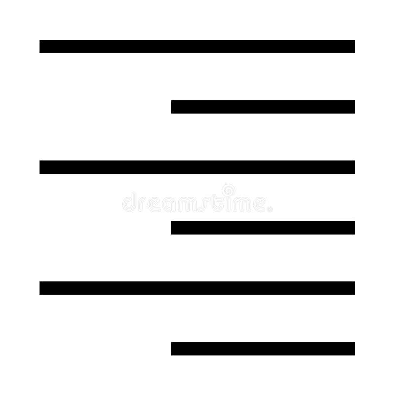 Ligne icône de vecteur d'alignement illustration stock