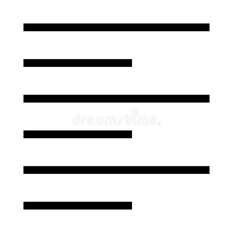 Ligne icône de vecteur d'alignement illustration de vecteur