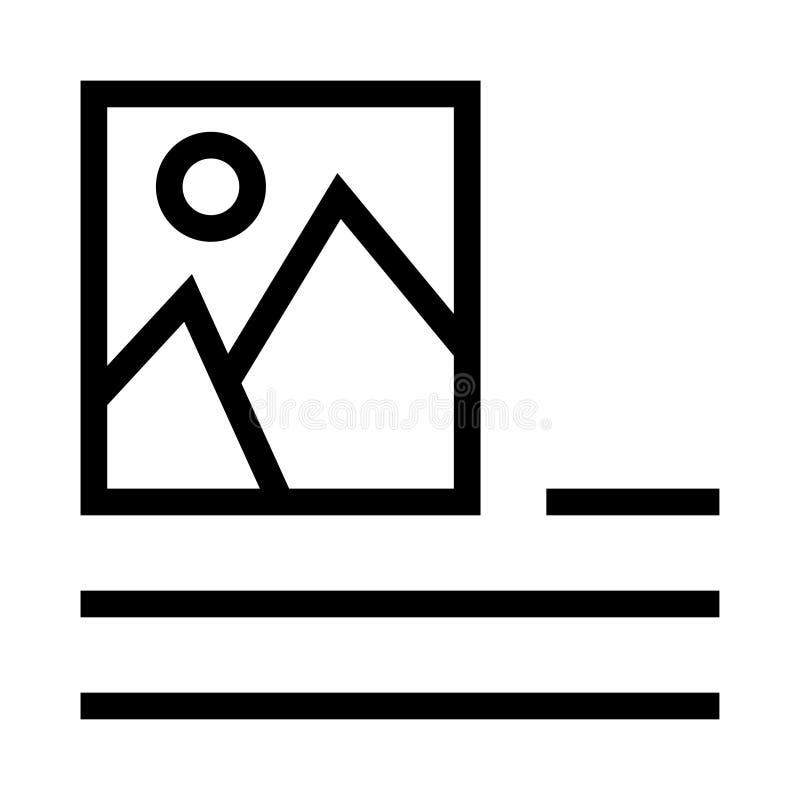 Ligne icône de vecteur d'alignement de photo illustration libre de droits
