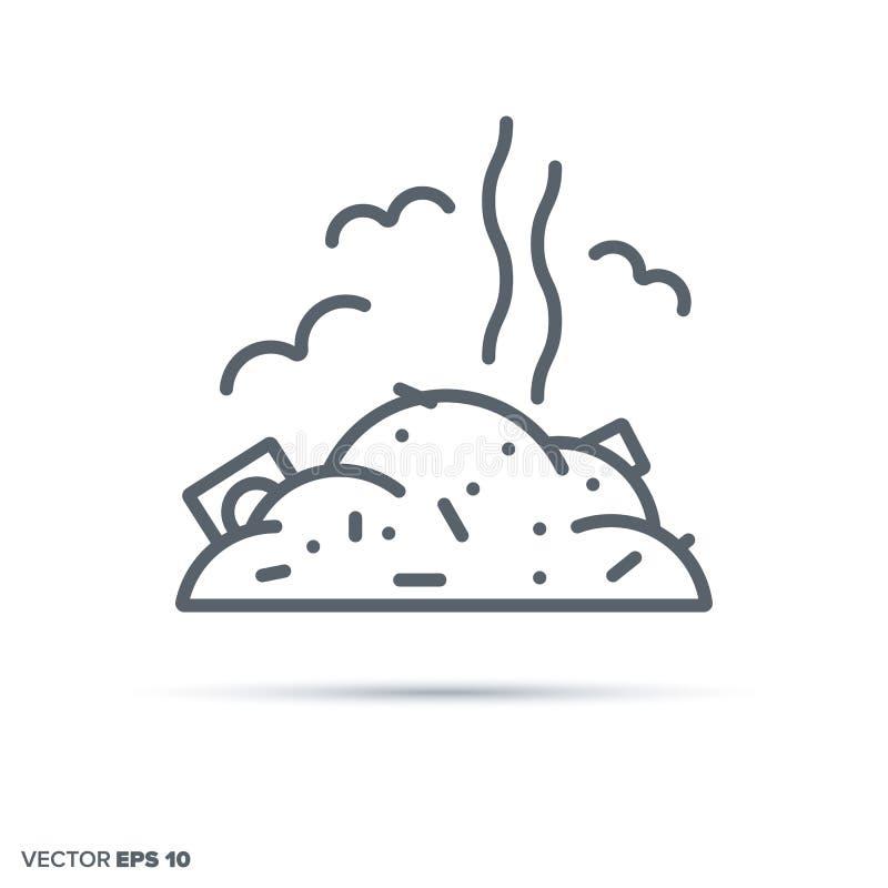 Ligne icône de vecteur d'entrepôt de ferraille illustration de vecteur