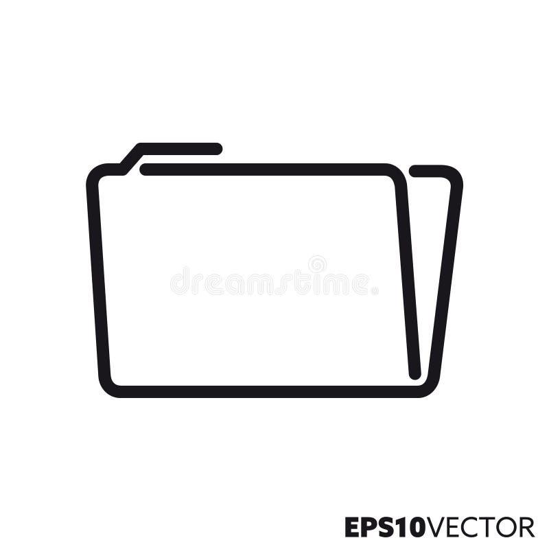 Ligne icône de vecteur de dossier illustration stock