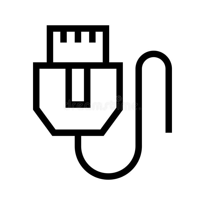 Ligne icône de vecteur de fil illustration libre de droits