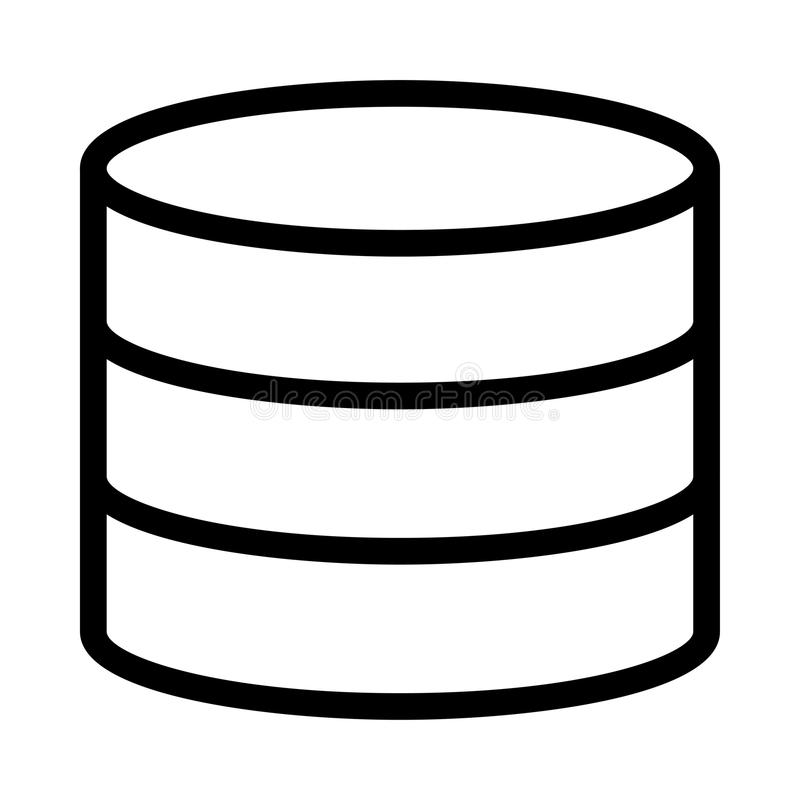 Ligne icône de vecteur de stockage illustration libre de droits