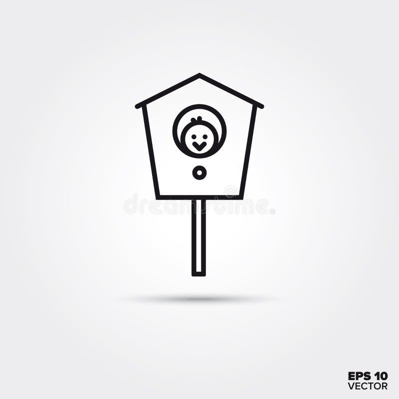 Ligne icône de volière illustration de vecteur