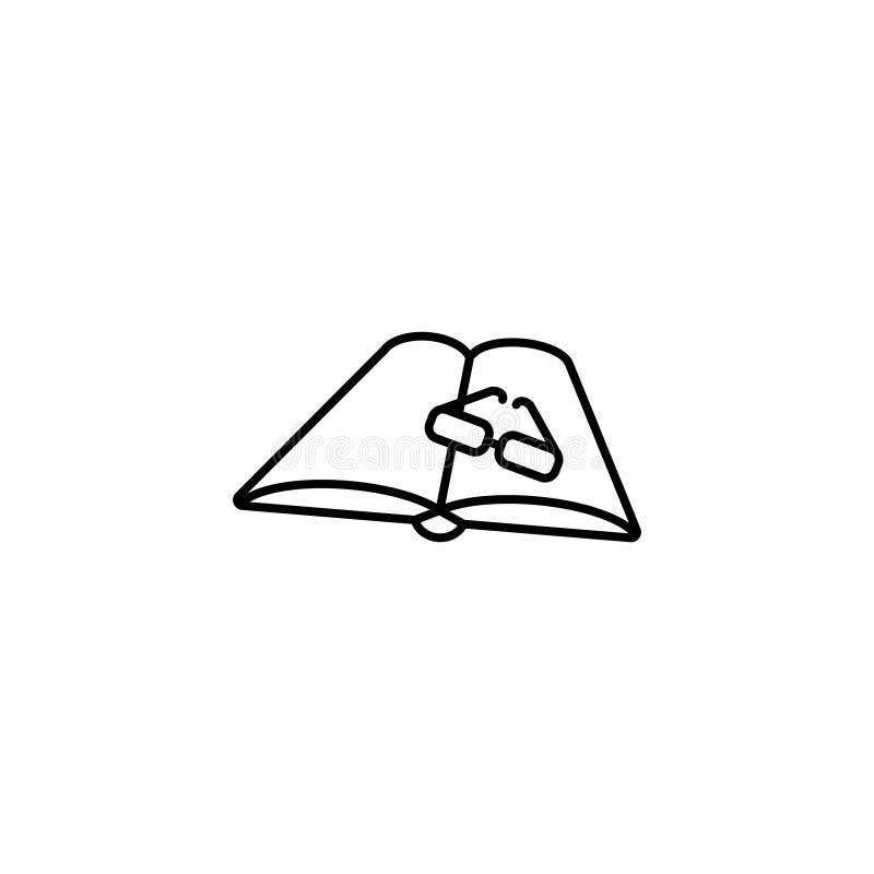 Ligne icône Glaces et livre illustration libre de droits