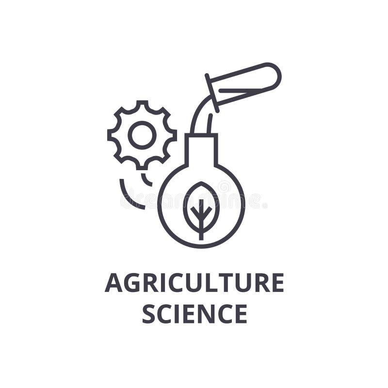 Ligne icône, signe d'ensemble, symbole linéaire, vecteur, illustration plate de la science d'agriculture illustration libre de droits