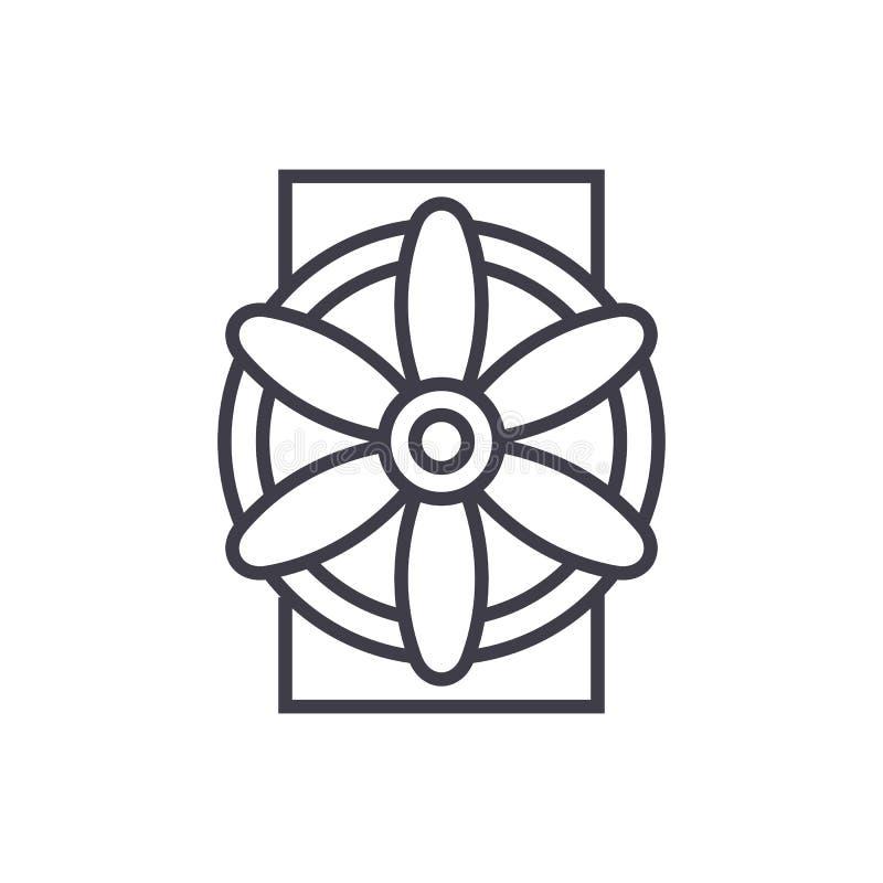Ligne icône, signe, illustration de vecteur de générateur sur le fond, courses editable illustration de vecteur
