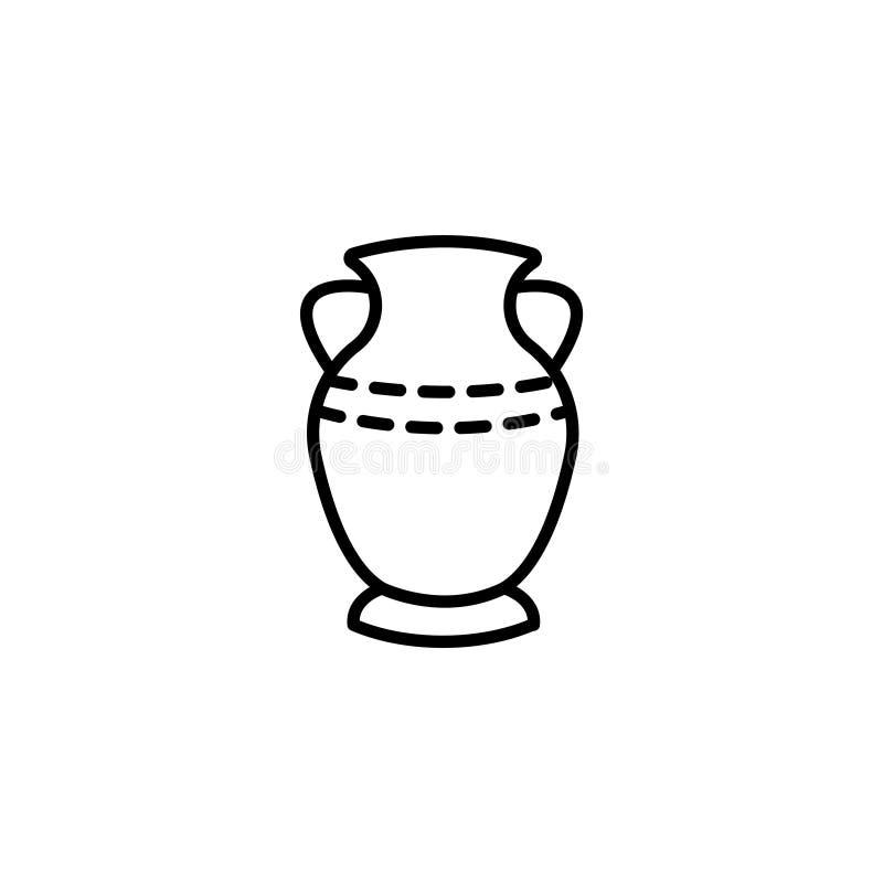 Ligne icône Symbole de vase illustration de vecteur