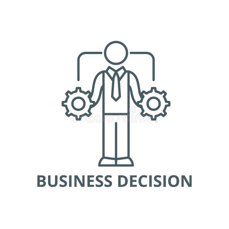Ligne icône, vecteur de prise de décision d'affaires Signe d'ensemble de prise de décision d'affaires, symbole de concept, illust illustration de vecteur