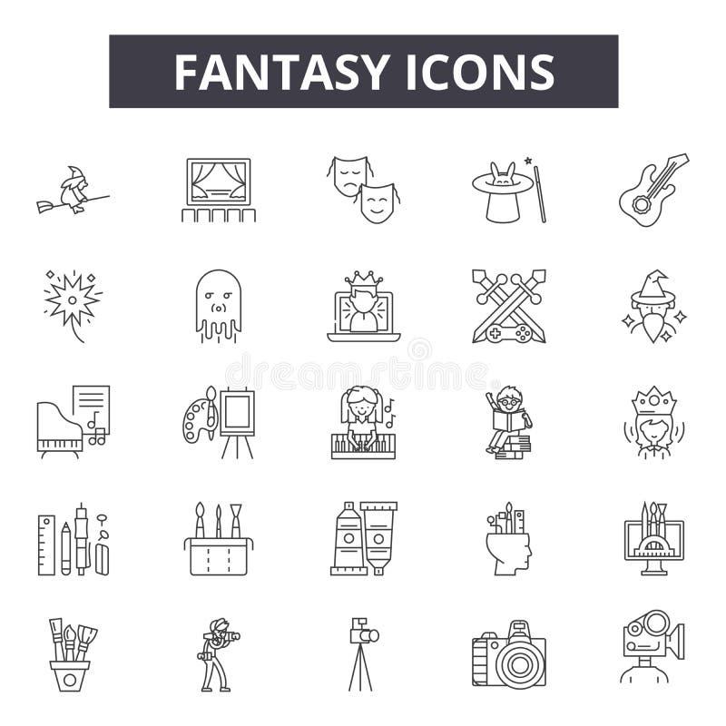 Ligne icônes d'imagination pour le Web et la conception mobile Signes Editable de course Illustrations de concept d'ensemble d'im illustration stock