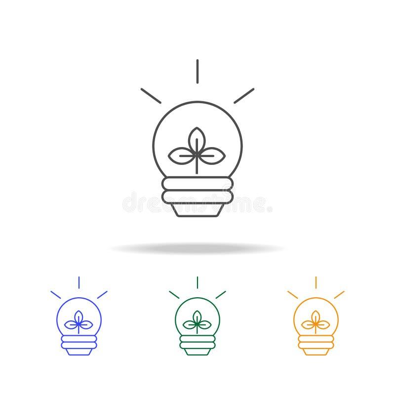 Ligne icônes de concept d'énergie d'eco d'icône Élément de l'écologie pour le concept et le Web mobiles La ligne mince icône pour illustration stock