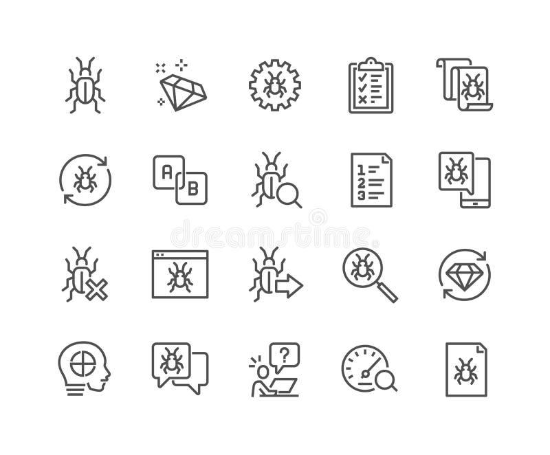 Ligne icônes de garantie de la qualité illustration stock