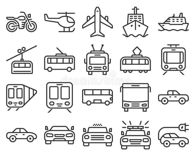 Ligne icônes de transport illustration libre de droits