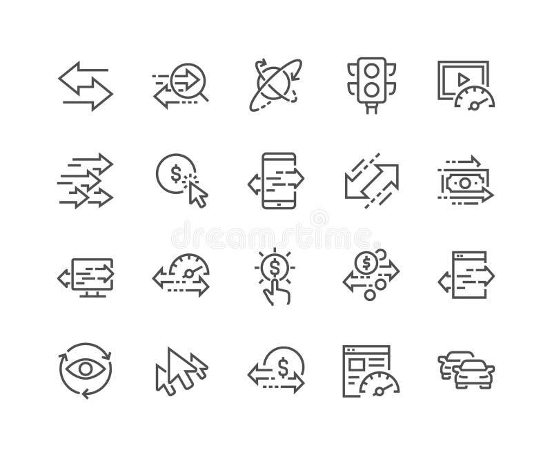 Ligne icônes du trafic illustration de vecteur