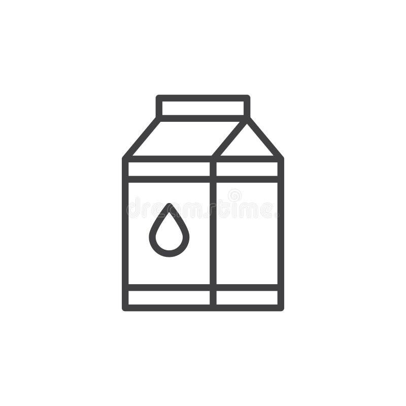 Ligne icône de boîte de carton de lait illustration libre de droits