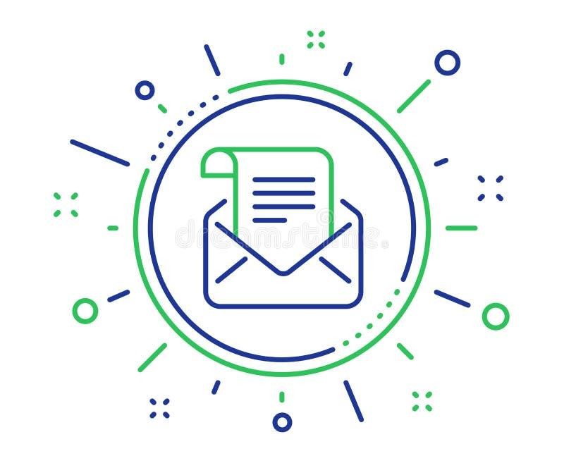Ligne ic?ne de bulletin d'information de courrier Lisez le signe de correspondance de message Vecteur illustration de vecteur