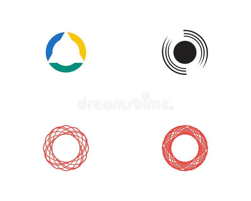 Ligne ic?ne de cercle de vecteur de Logo Template illustration stock