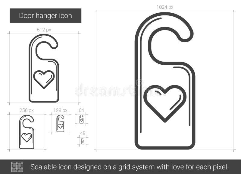 Ligne icône de cintre de porte illustration libre de droits