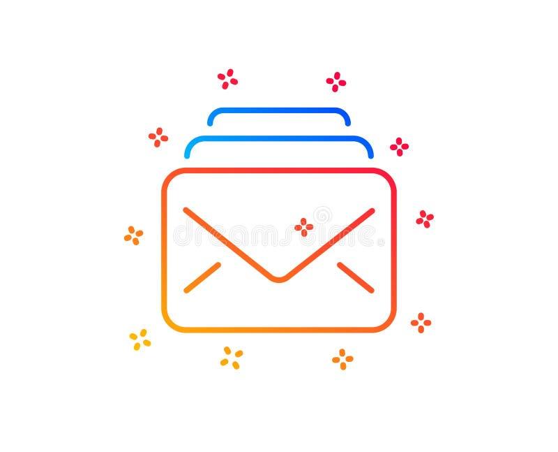 Ligne ic?ne de courrier Nouveau signe de correspondance de messages Vecteur illustration stock