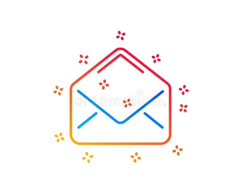 Ligne ic?ne de courrier Signe de correspondance de message Vecteur illustration de vecteur