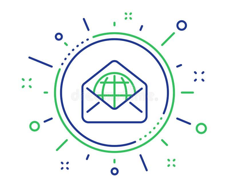 Ligne ic?ne de courrier de Web Signe de correspondance de message Vecteur illustration stock