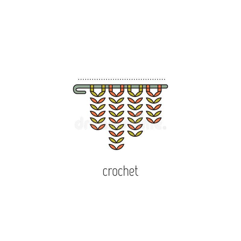 Ligne icône de crochet illustration stock