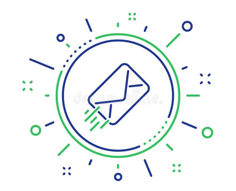 Ligne ic?ne de distribution du courrier Signe de correspondance de message Vecteur illustration stock