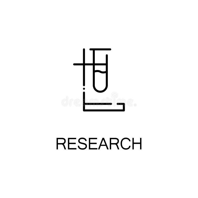 Ligne icône de fiole illustration stock