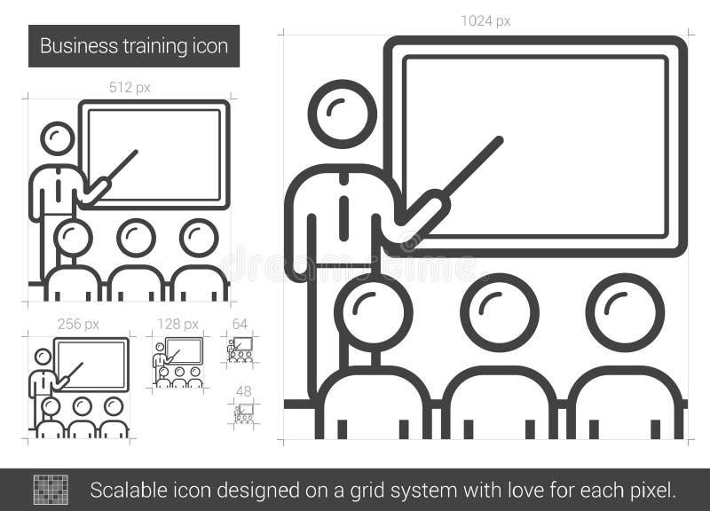 Ligne icône de formation d'affaires illustration stock