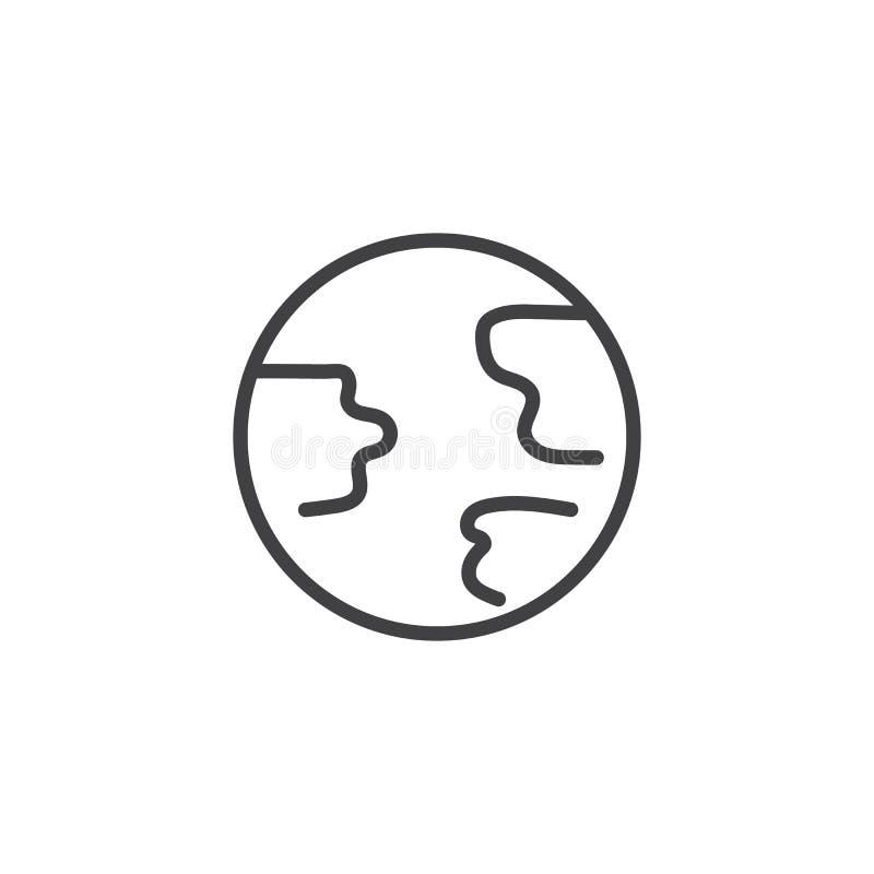 Ligne ic?ne de globe de la terre illustration libre de droits