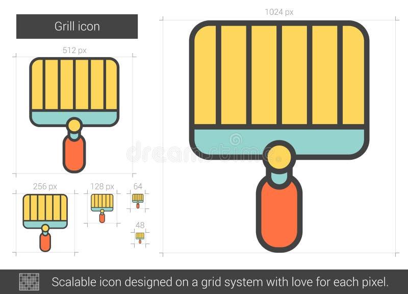 Ligne icône de gril illustration de vecteur