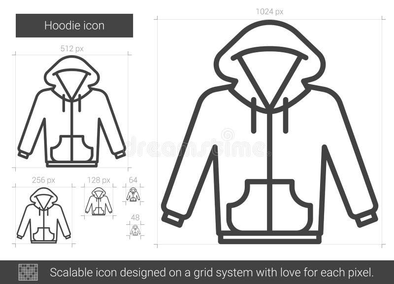 Ligne icône de Hoodie illustration de vecteur