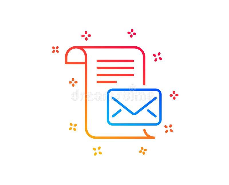 Ligne ic?ne de lettre de courrier Lisez le signe de correspondance de message Vecteur illustration stock