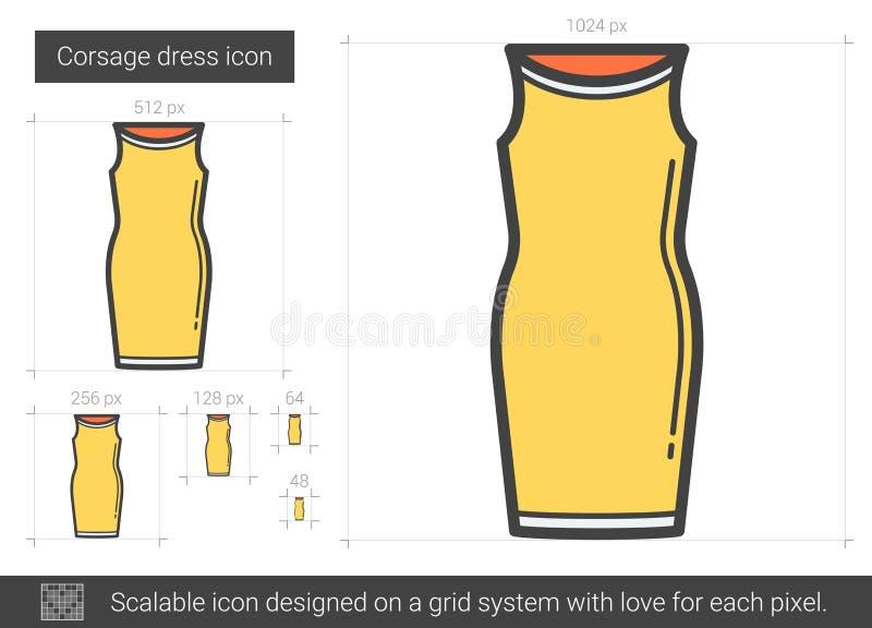 Ligne icône de robe de corsage illustration libre de droits