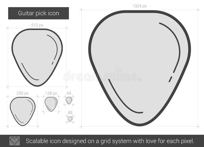 Ligne icône de sélection de guitare illustration libre de droits