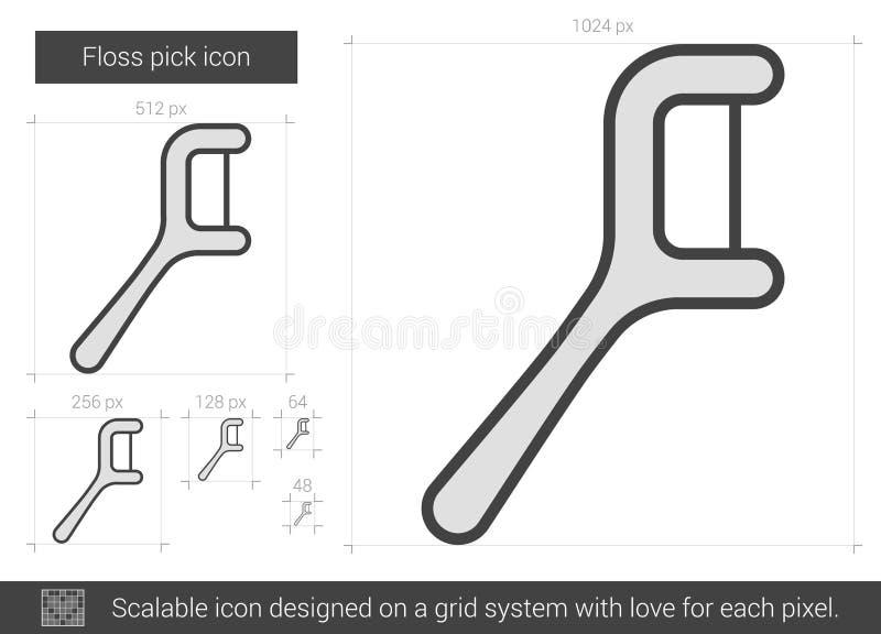 Ligne icône de sélection de soie illustration stock