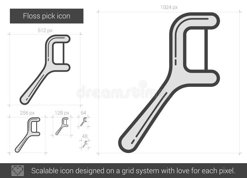 Ligne icône de sélection de soie illustration de vecteur