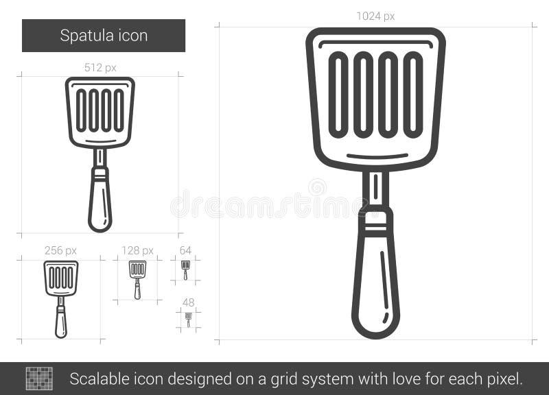 Ligne icône de spatule illustration de vecteur