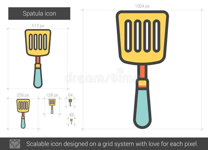 Ligne icône de spatule illustration libre de droits