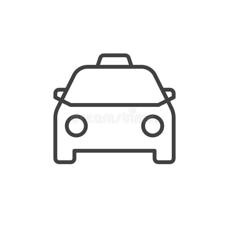 Ligne icône de taxi illustration de vecteur