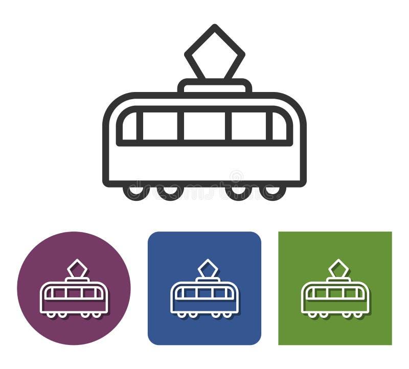 Ligne ic?ne de tram illustration stock