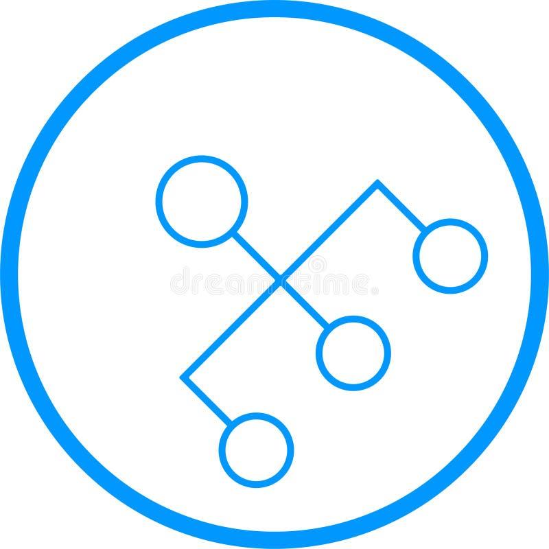 Ligne icône de vecteur de hiérarchie de commandements illustration de vecteur