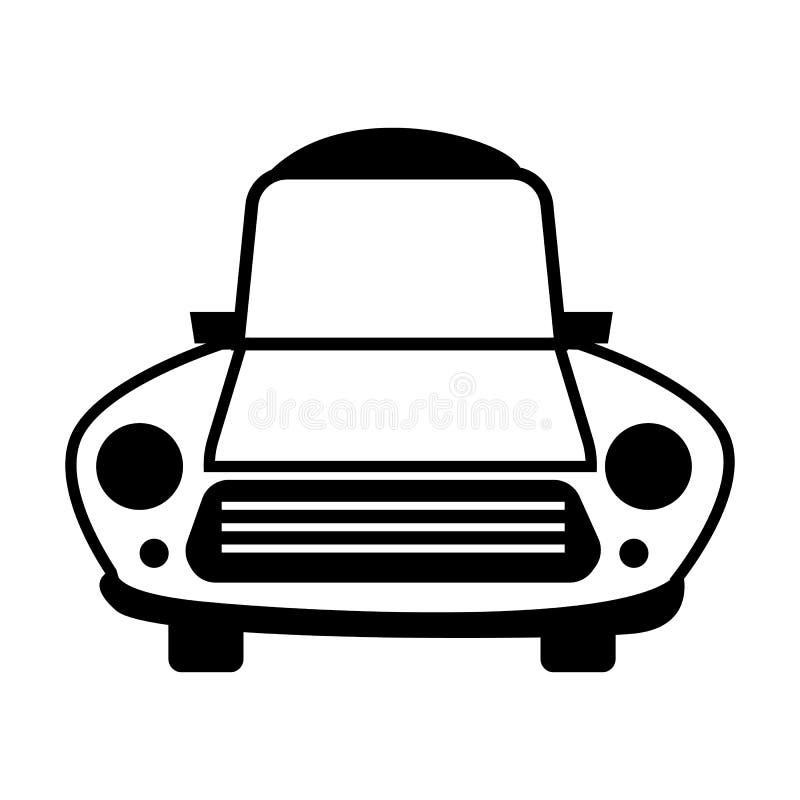 Ligne icône de voiture pour le Web illustration libre de droits