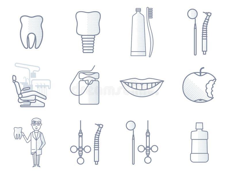 Ligne icône dentaire de vecteur illustration de vecteur