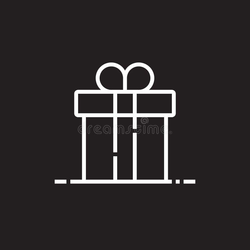 Ligne icône, illustration de logo de vecteur d'ensemble, PIC linéaire de boîte-cadeau illustration de vecteur