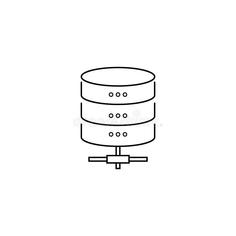 Ligne icône, vecteur de protection de stockage de données d'ensemble illustration libre de droits