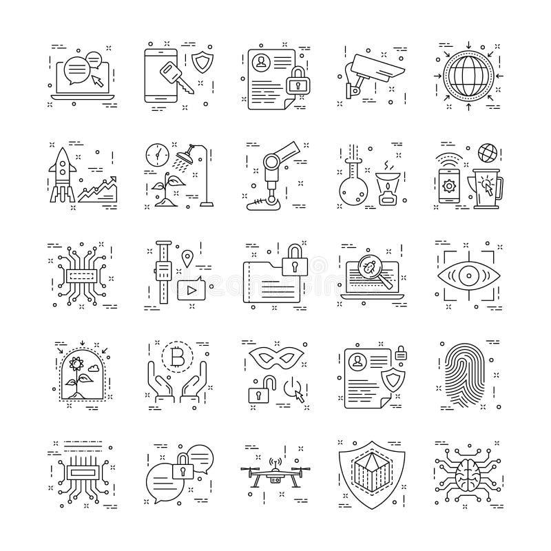 Ligne icônes avec le détail 10 illustration de vecteur